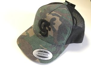 CS Kšiltovka Camo Trucker Wood
