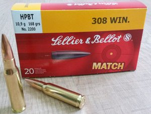 .308 Win, HPBT 2200 10,9g Sellier & Bellot