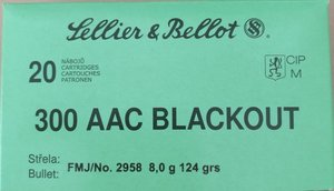 300AAC FMJ 8g/124gr, SB, AAC Blackout